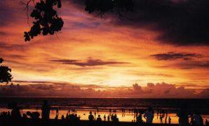 Sunset di kuta bali denpasar